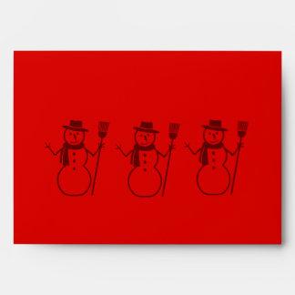 sobre rojo del navidad del diseño gráfico del