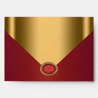 Sobre rojo del oro