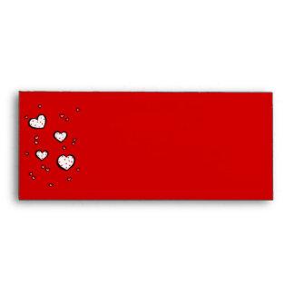Sobre rojo del papel con membrete #10 de los