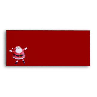 Sobre rojo del papel con membrete de Papá Noel
