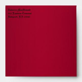 """Sobre rojo y negro gótico para 5,25"""" Sq. Tamaño"""