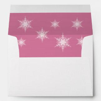 Sobre rosado 5X7 Nevado