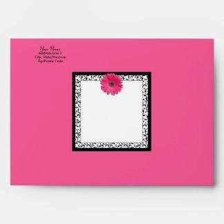 Sobre rosado de la margarita A-7 del Gerbera