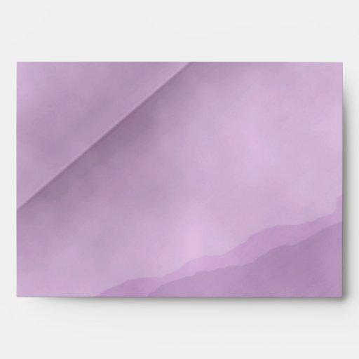 Sobre rosado de la tarjeta de felicitación del vin