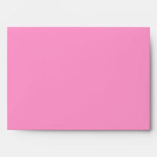 Sobre rosado de Mitzvah 5x7 del palo de los flores