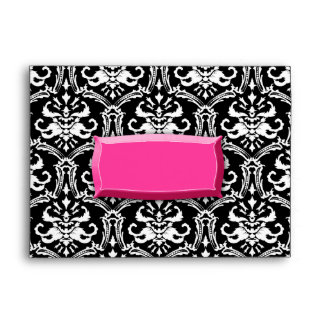 sobre rosado del damasco de la ráfaga 311-Exqusite