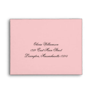 Sobre rosado elegante de lujo de la entrega