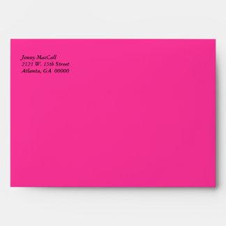 Sobre rosado y anaranjado caprichoso