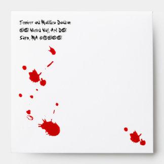 Sobre sangriento del fiesta de Halloween