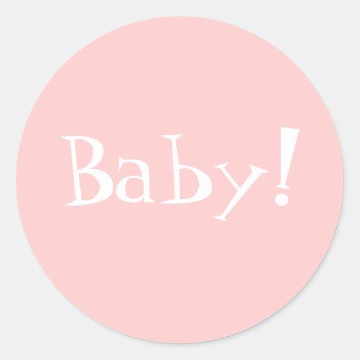 ¡Sobre Seal_Girl_Baby de Annoncement del Pegatinas Redondas
