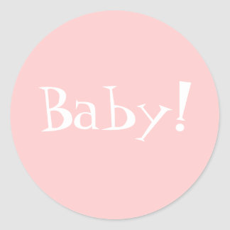 ¡Sobre Seal_Girl_Baby de Annoncement del Pegatina Redonda