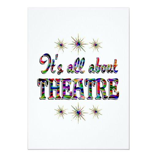 """Sobre teatro invitación 5"""" x 7"""""""