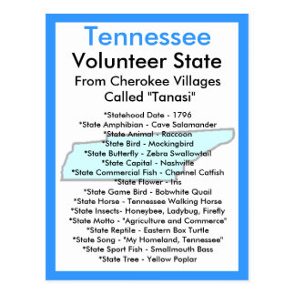 Sobre Tennessee Tarjetas Postales