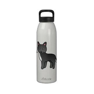 Sobre todo amor negro del husky siberiano del dibu botellas de beber
