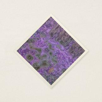 Sobre todo modelo púrpura servilletas desechables
