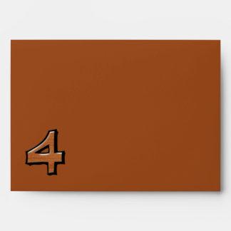 Sobre tonto de la tarjeta del chocolate del número
