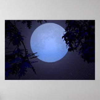 Sobre una luna azul poster