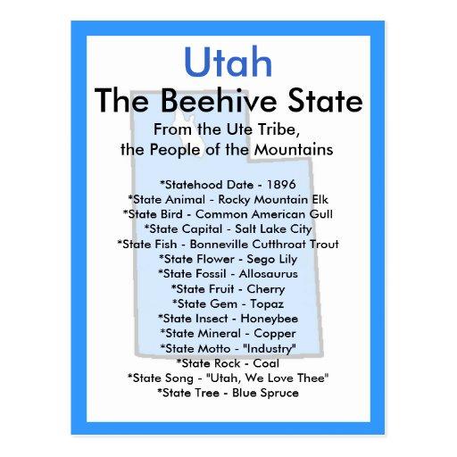 Sobre Utah Tarjetas Postales
