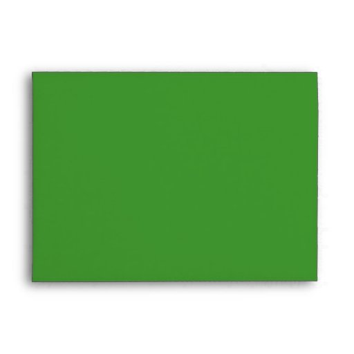 sobre verde 5x7