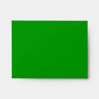 Sobre verde A2 de las rayas del navidad