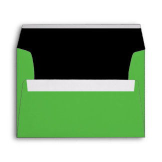 Sobre verde de la invitación de Halloween