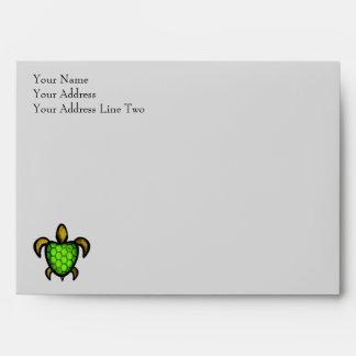 Sobre verde de la tarjeta de felicitación de la to