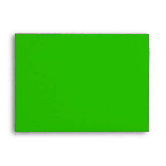 Sobre verde de la tarjeta de felicitación del día