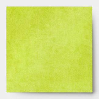 """Sobre verde del remite de la pera para 5"""" cuadrado"""