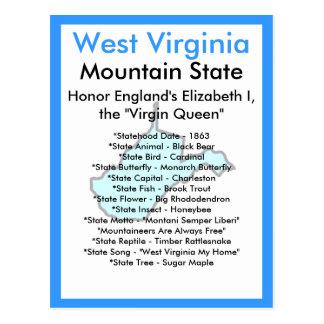 Sobre Virginia Occidental Tarjetas Postales