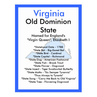 Sobre Virginia Tarjeta Postal