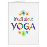 Sobre yoga felicitación
