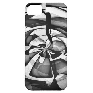Sobrecarga abstracta negra y blanca iPhone 5 Case-Mate carcasas