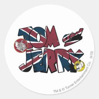 Sobrecarga BRITÁNICA 2 de Tom y Jerry Pegatina Redonda