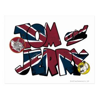 Sobrecarga BRITÁNICA 2 de Tom y Jerry Tarjeta Postal