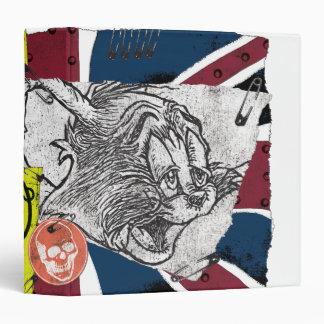 """Sobrecarga BRITÁNICA Sex Pistols de Tom y Jerry Carpeta 1 1/2"""""""