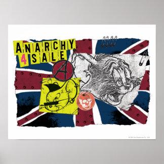Sobrecarga BRITÁNICA Sex Pistols de Tom y Jerry Póster
