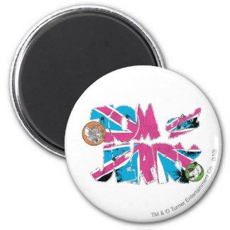 Sobrecarga de Tom y Jerry Reino Unido Imán Redondo 5 Cm