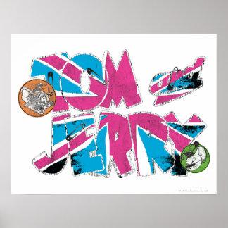 Sobrecarga de Tom y Jerry Reino Unido Póster