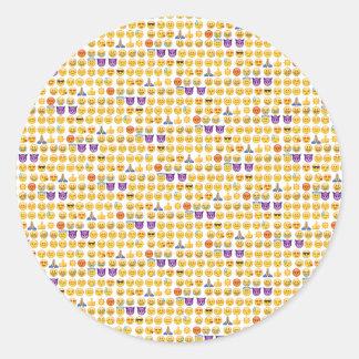 sobrecarga del emoji pegatina redonda