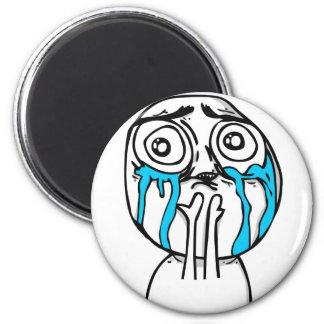 Sobrecarga Meme cómico del Cuteness Imán Redondo 5 Cm