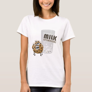 Sobredosis de la leche para la galleta playera