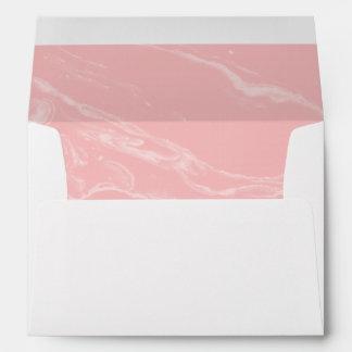 Sobres a juego modernos de mármol rosados
