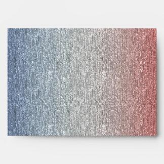 Sobres azules blancos rojos patrióticos de la band