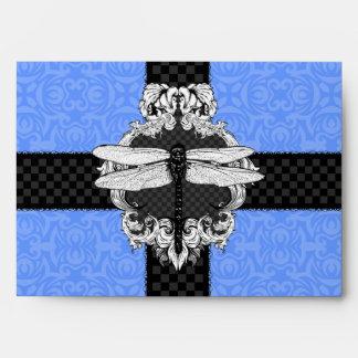Sobres azules de la libélula A7 del Cornflower
