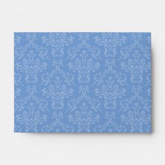 Sobres azules del damasco A6 del Cornflower
