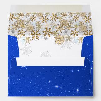 Sobres azules del navidad A7 de las estrellas