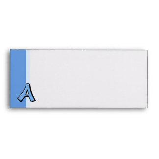 Sobres azules tontos del papel con membrete de la