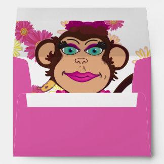 Sobres bonitos de la sorpresa del mono