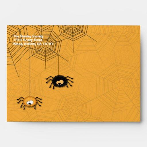Sobres colgantes de Halloween de las arañas