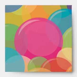 Sobres coloridos de la fiesta de cumpleaños del fi